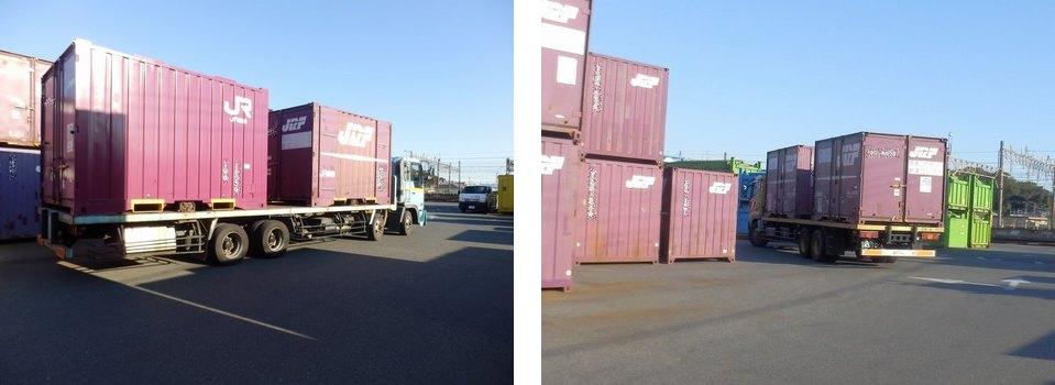 JRコンテナ2個積トラック