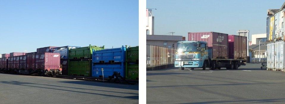 JRコンテナ運搬~引き込み線