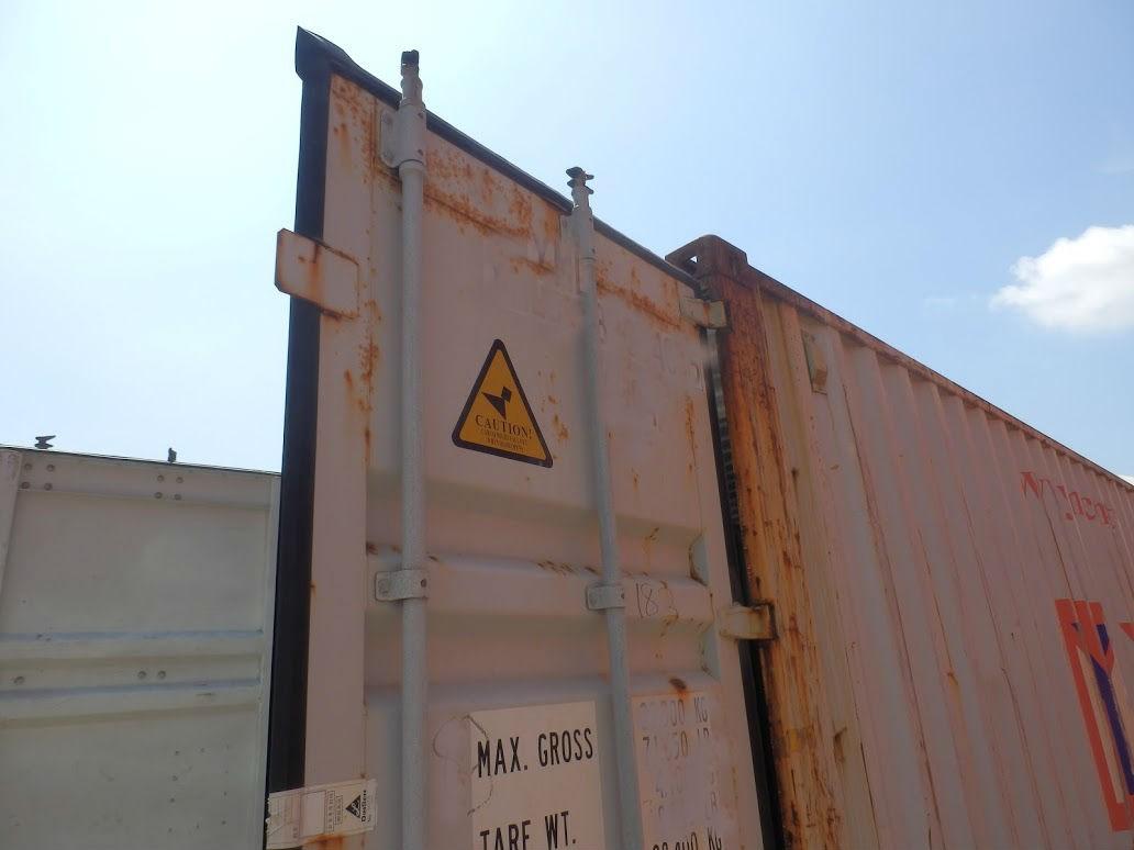 コンテナ販売のDAX 中古コンテナ 倉庫目的 販売 レベル調整 水平確認 扉開閉