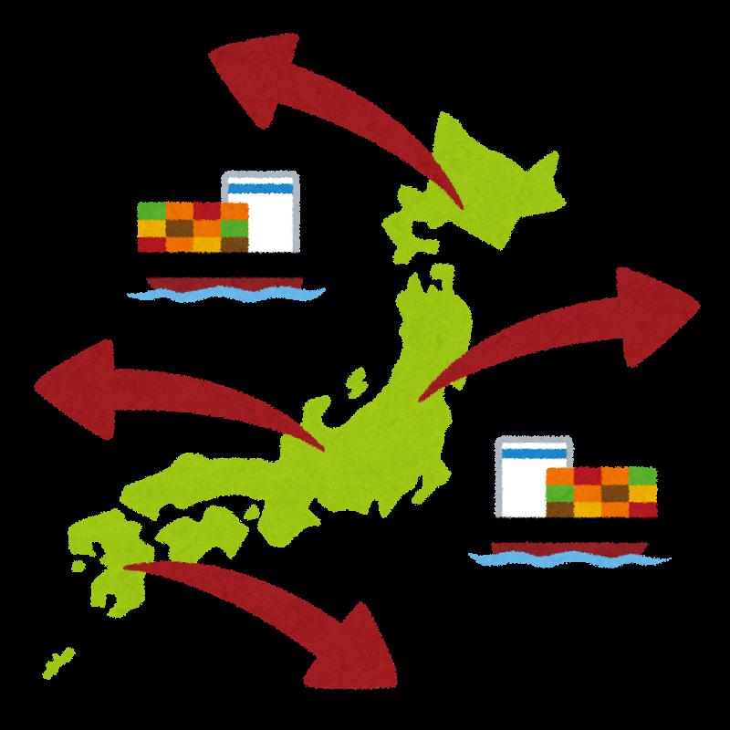 日本からコンテナ輸出