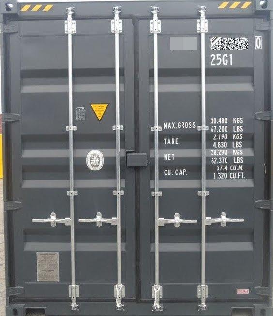 コンテナ販売のDAX 海上コンテナ 20フィート ハイキューブ 扉 表記