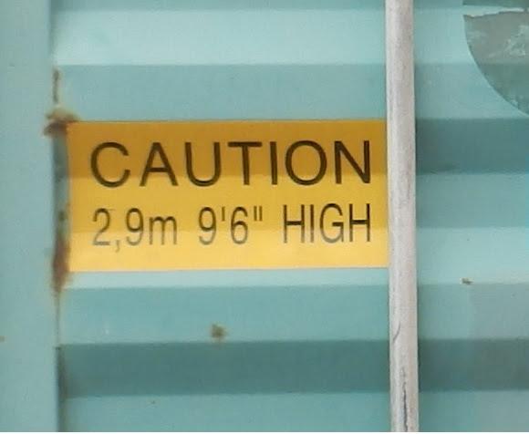 コンテナ販売のDAX 海上コンテナ 表記 ハイキューブ CAUTION マーク