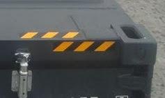 コンテナ販売のDAX 海上コンテナ 表記 ハイキューブ CAUTION マーク ゼブラゾーン