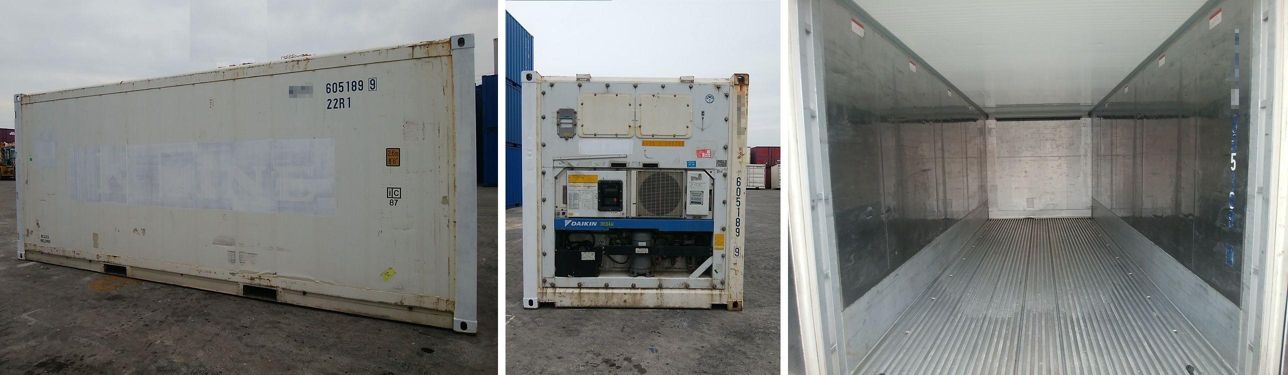 DAX コンテナ販売 購入サポート 中古 海上ISOドライコンテナ 20ftリーファーコンテナ