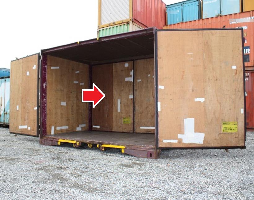 コンテナ販売のDAX 中古 JR貨物 12フィートコンテナ 両面(両側面)タイプ 販売 1側面開閉