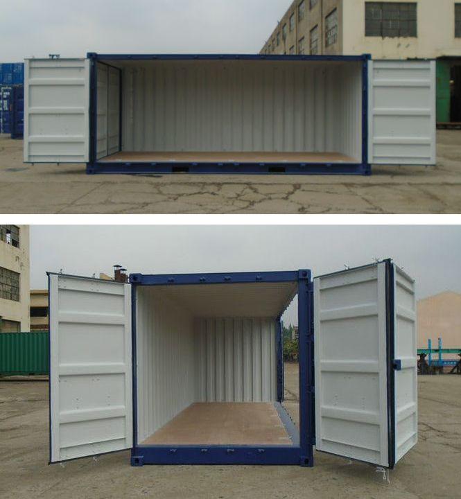 コンテナ販売のDAX 海上用 20フィート ドライコンテナ サイドオーオープン 販売 ドア開閉写真