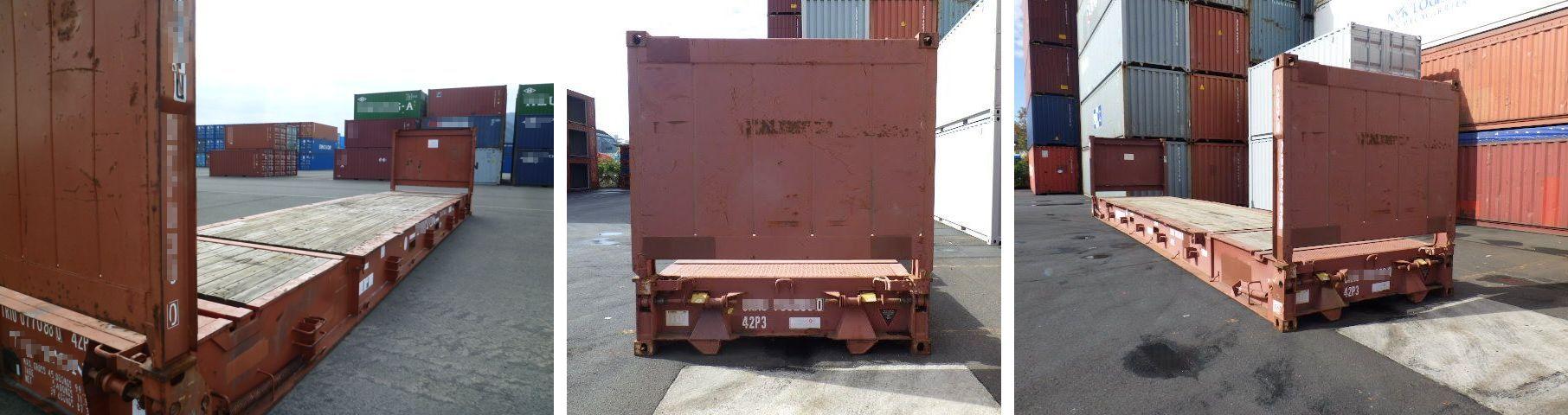DAX コンテナ販売 購入サポート 中古 海上ISOドライコンテナ フラットラック